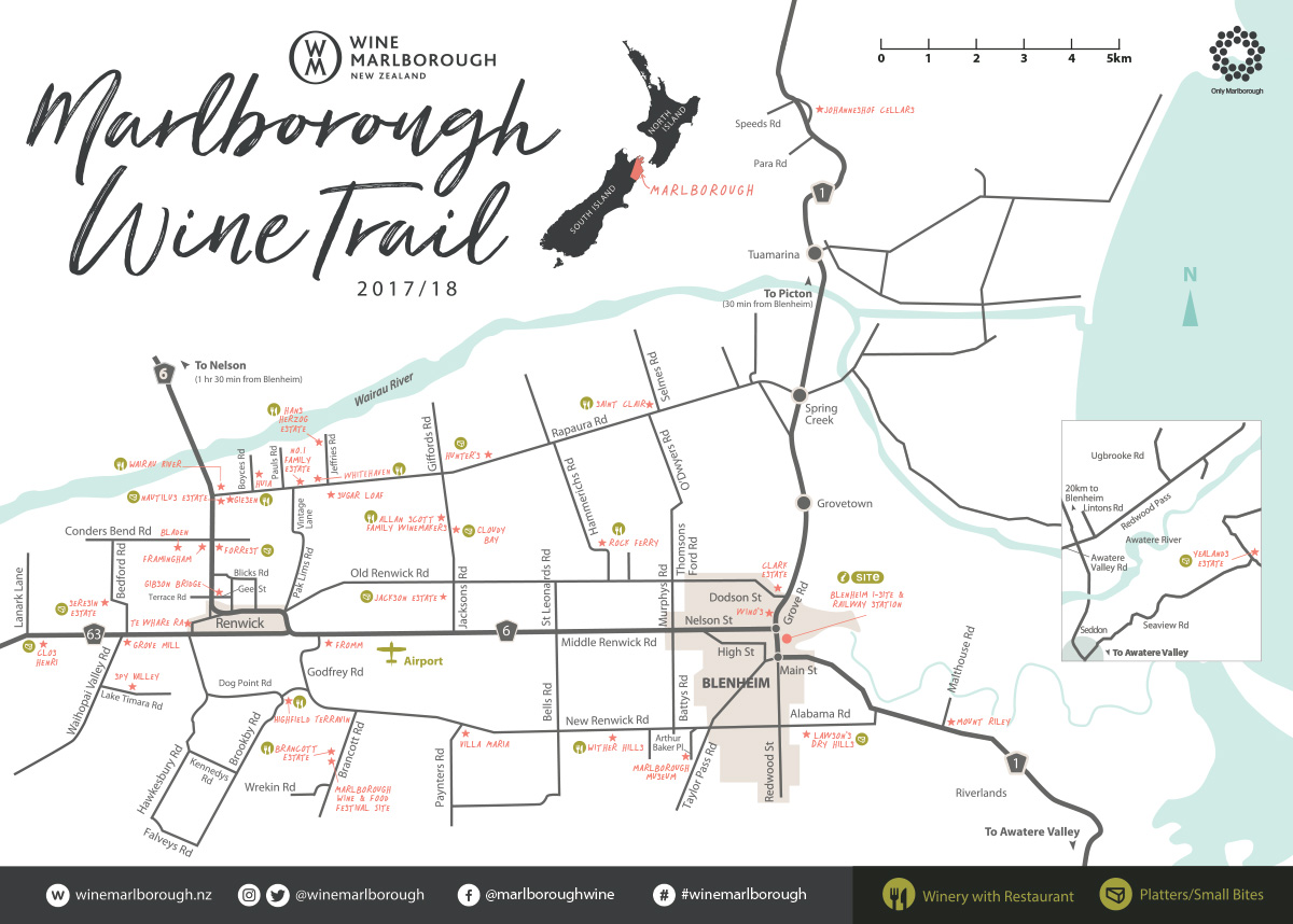 marlborough wine trail map